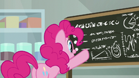 Pinkie Pie reading the rule of threes S9E14