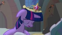 Princess Celestia begins to stand up S4E02