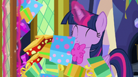 Twilight opens closet and presents fall out S7E3