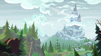 Birds flying away from Mt. Everhoof S9E8