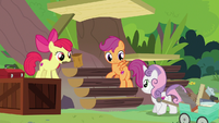Cutie Mark Crusaders help build the sanctuary S7E5