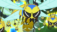 Flash bees unaffected by Fluttershy's Stare S7E20