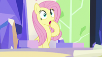 Fluttershy gasps with sudden fear S9E4