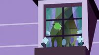 Green apple hits Apple Bloom's window S8E25