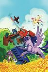 My Little Pony Transformers issue 1 cover RI-B textless