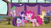 Pinkie Pie booping Twilight's nose S9E16