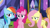 Rainbow, Pinkie, and Fluttershy moved by Twilight's words S7E14