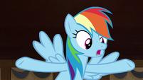 "Rainbow Dash ""before the curse took effect"" S7E18"