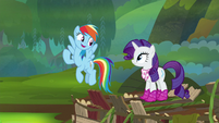 """Rainbow Dash """"we're doing this together"""" S8E17"""