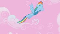 Rainbow Dash soaring in the sky S1E11