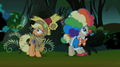 201px-S2E04 Applejack and Mayor in the wind