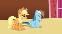 Applejack and Rainbow Dash bored S3E3