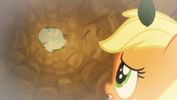 Applejack looks to top of the pit S9E10