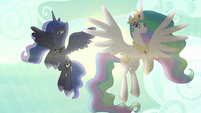 Celestia and Luna appear on the scene S9E13