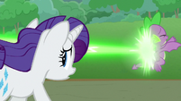 Chrysalis' magic hits Spike in the back S9E25