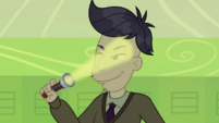 Cranky shines flashlight in his eyes CYOE10a