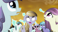 Crystal ponies watch Cadance's shield fail S3E02