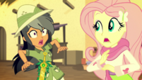 Daring Do nearly crashes into Fluttershy EGS2