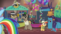 Dr. Caballeron at the Daring Do convention S6E13