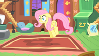 Fluttershy shocked by the CMC's behavior S1E17