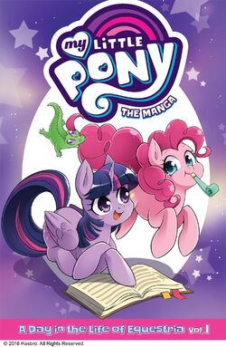MLP The Manga - A Day in the Life of Equestria Vol. 1 cover.jpg
