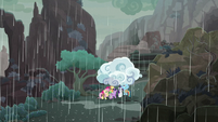 Mane Seven take shelter under cloud S8E25