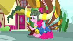 Pinkie Pie with yak helmet and yovidaphone S8E18.png