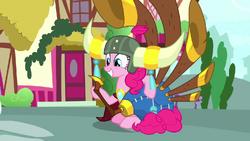 Pinkie Pie with yak helmet and yovidaphone S8E18.png