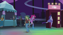 Pinkie and Rarity run into first photo booth EG2