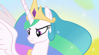 Princess Celestia looking determined S7E10