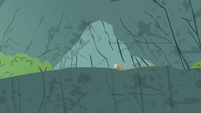 Rockhoof digging on top of the cliff S7E16