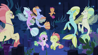 Scootaloo partying with the seaponies S8E6