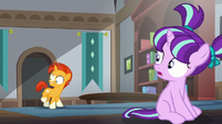 Sunburst looks at his flank S5E26