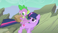 "Twilight Sparkle and Spike ""Can you breathe yet"" S01E19"