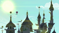 Twinkling Balloon rising high into the sky S9E4
