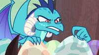 Ember tickling the dragon eggs S9E9