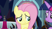 Fluttershy moved by Discord's words S9E2