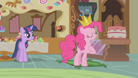 Pinkie Pie declares the sweets are satisfactory S1E10