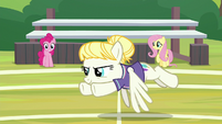 Pizzelle flying after the buckball S9E15