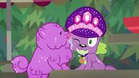 Princess Thunder Guts licks Spike's cheek CYOE14b