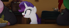Rarity excited about pudding MLPTM