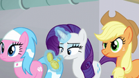 Rarity looks at her pocketwatch again S6E10