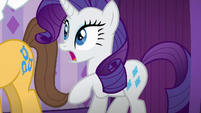 Rarity shocked by the waiting line S6E10