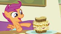 "Scootaloo ""I'm eating Rainbow Dash's favorite food"" S7E7"