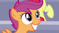 Scootaloo grinning with pride S7E7