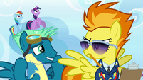 Sky Stinger looking embarrassed at Spitfire S6E24