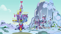 Twilight's castle and school at Hearth's Warming MLPBGE
