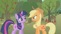 """Twilight and Applejack """"um, no?"""" S1E04"""