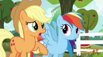 """Applejack """"we'll play against each other"""" S6E18"""