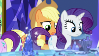 Applejack crossing behind Rarity S8E1